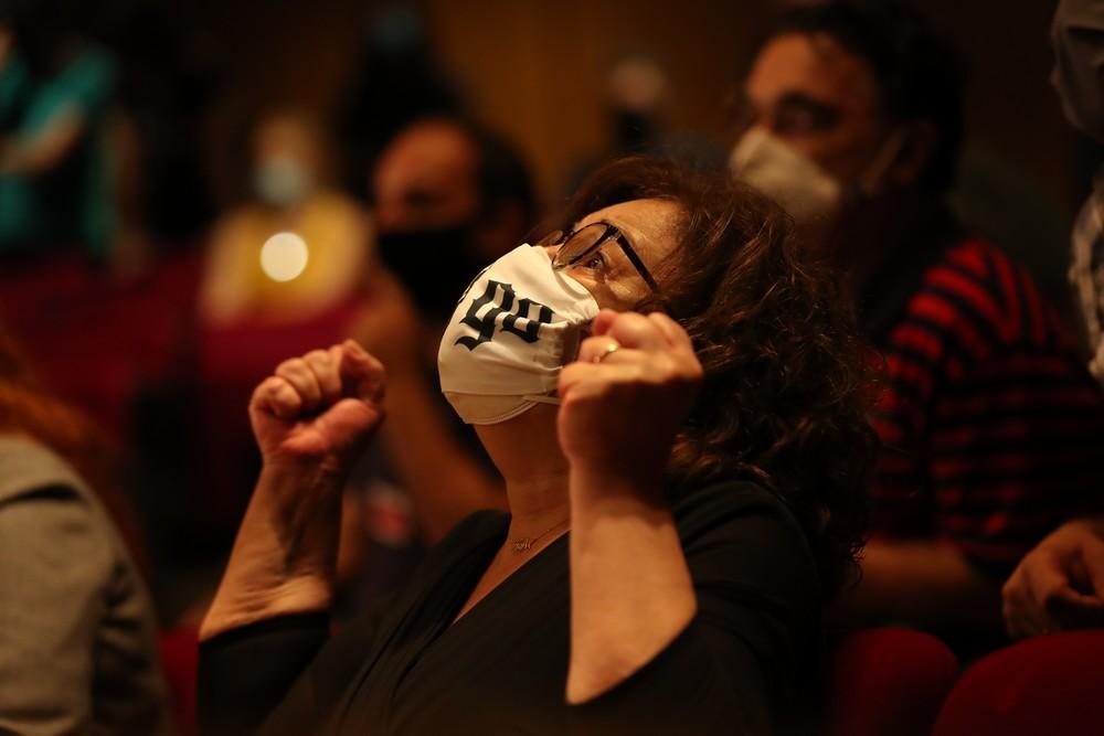 Η Μάγδα Φύσσα στο άκουσμα της είδησης ότι η Χρυσή Αυγή κρίθηκε