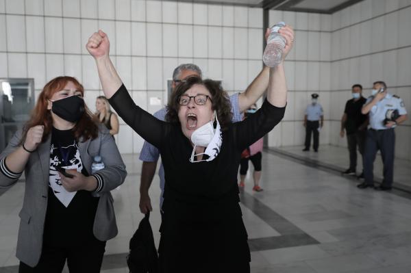 Η Μάγδα Φύσσα μετά την ανακοίνωση του δικαστηρίου