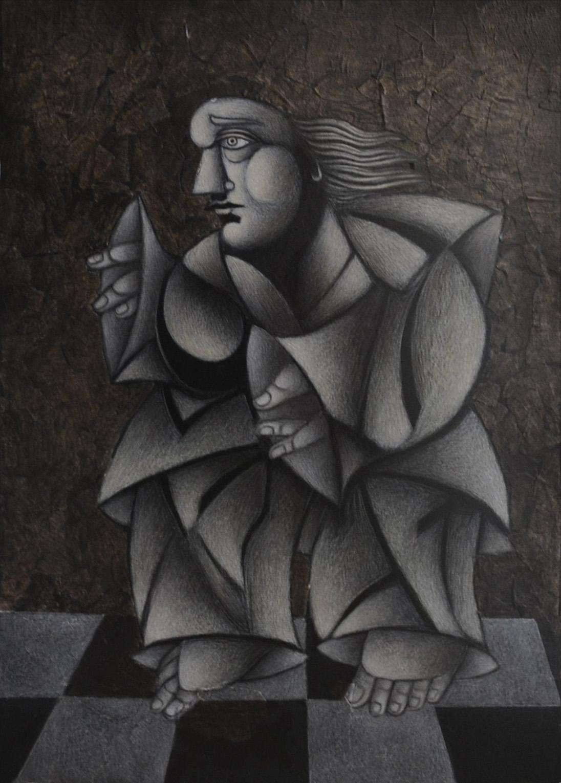 Α Βάος Figer 50x70 cm,Mixed technique